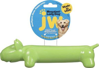 """JW Pet Megalast """"Long Dog"""" Dog Toy, Color Varies, Large"""