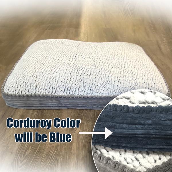 Inovatex Pet Pure Comfort Accented Napper Pet Bed, Blue Image