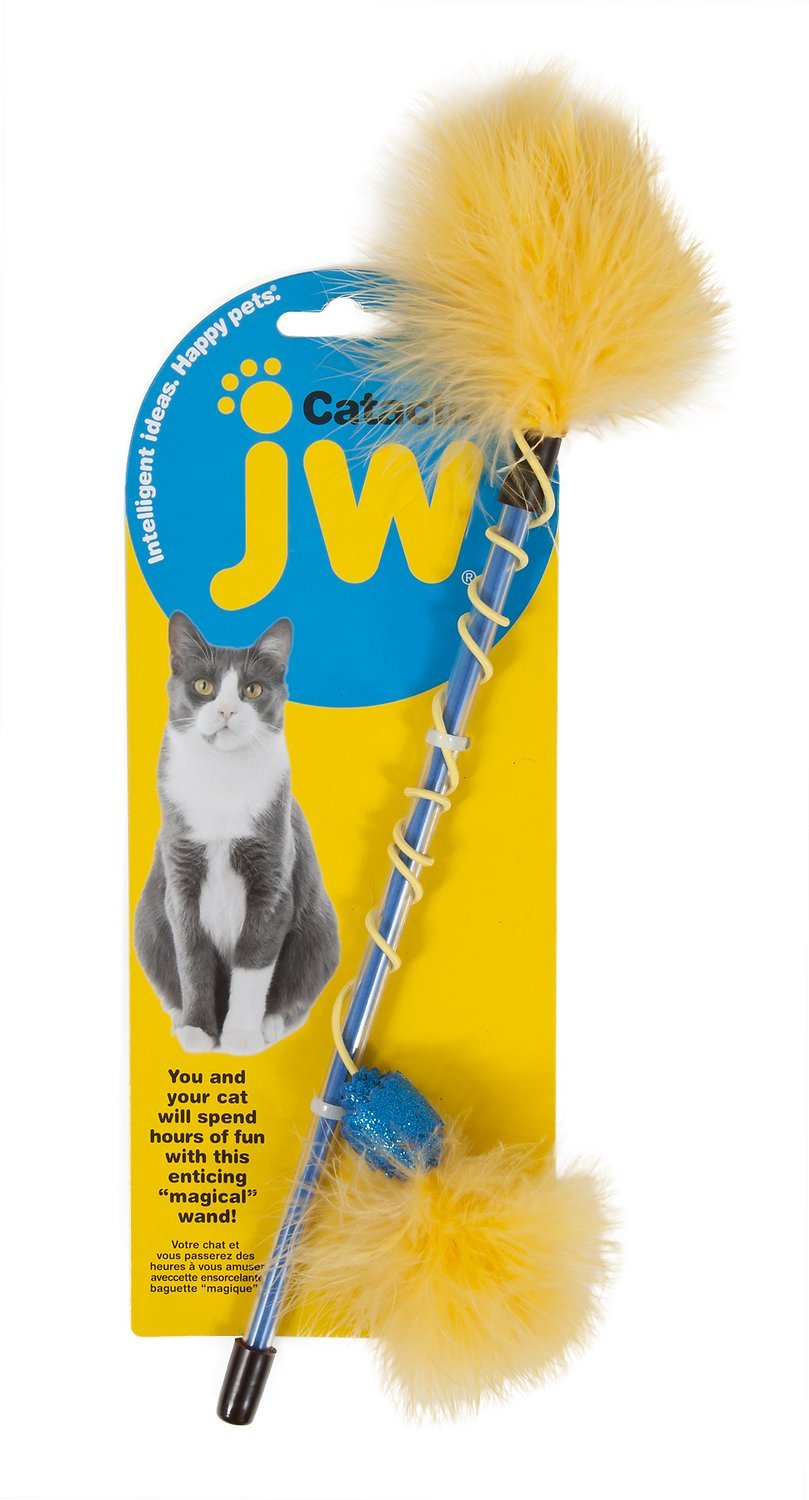 JW Pet Cataction Feather Wand Cat Toy