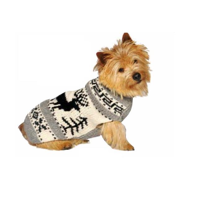 Chilly Dog Reindeer Shawl Dog Sweater Image