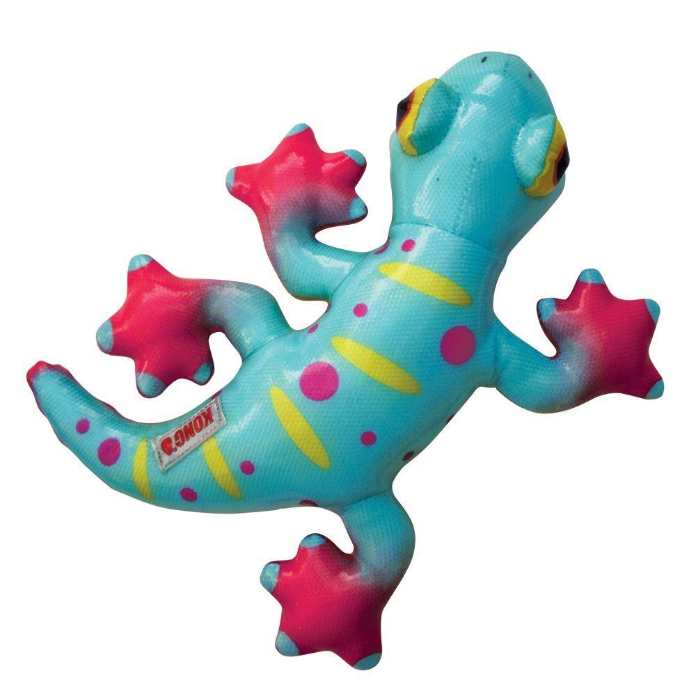 KONG Shieldz Tropics Gecko Dog Toy, Medium