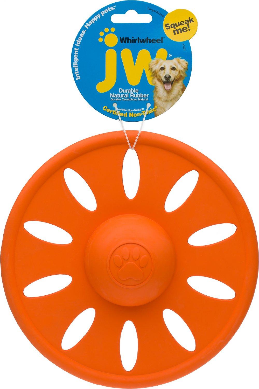 JW Pet Whirlwheel Flying Disk Dog Toy, Color Varies Image