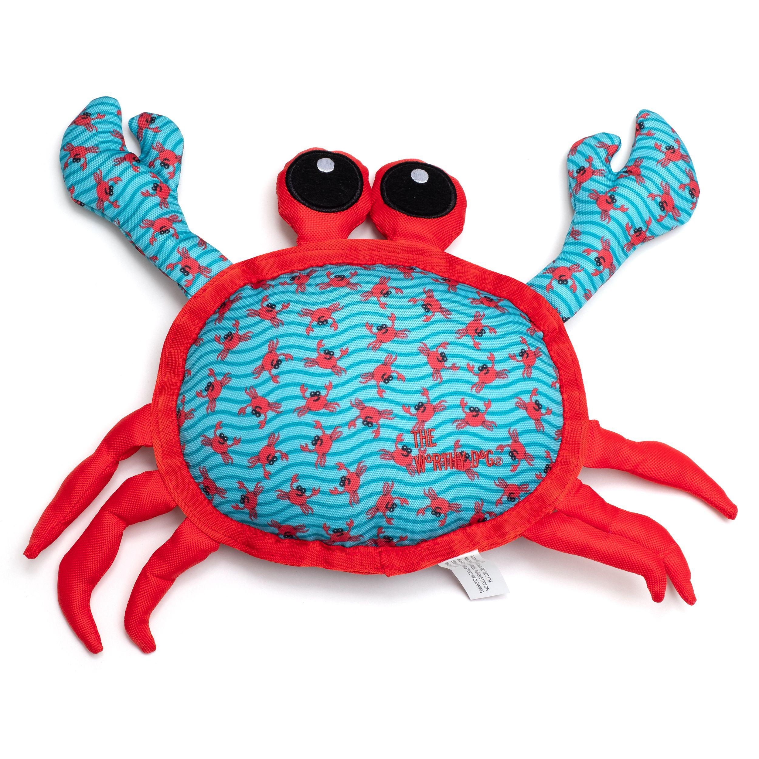 The Worthy Dog Crab Dog Toy, Small