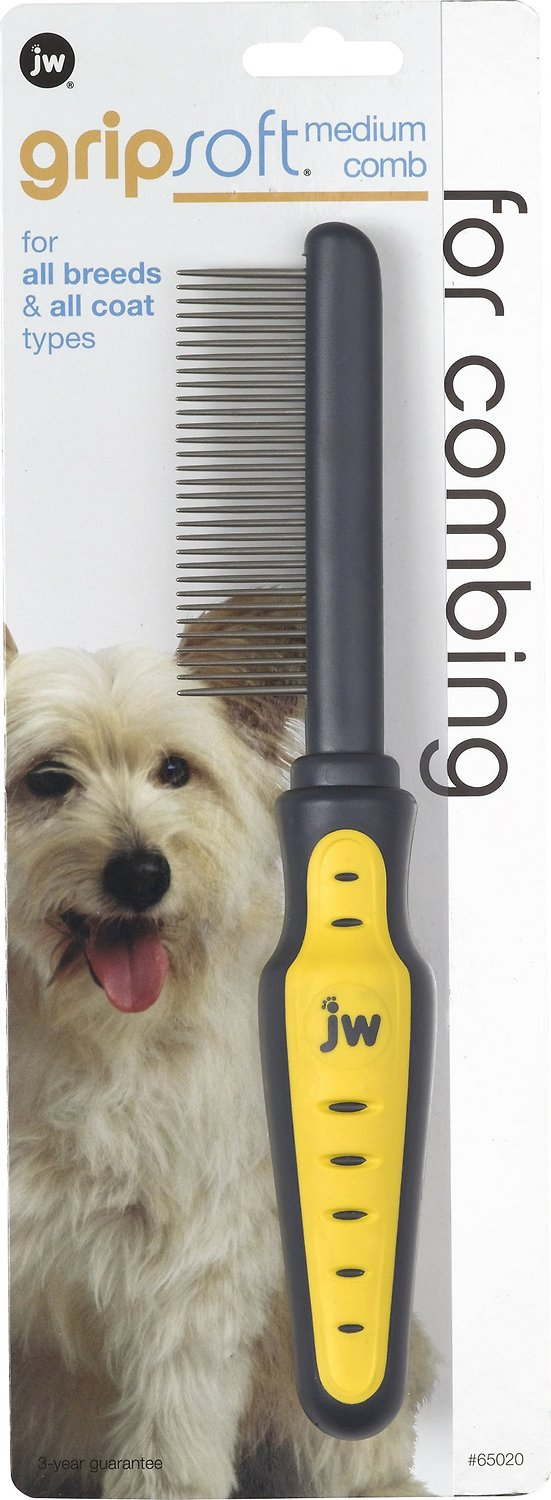 JW Pet Gripsoft Medium Dog Comb Image