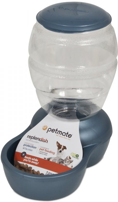 Petmate Pearl Replendish Feeder With Microban, Peacock Blue Image