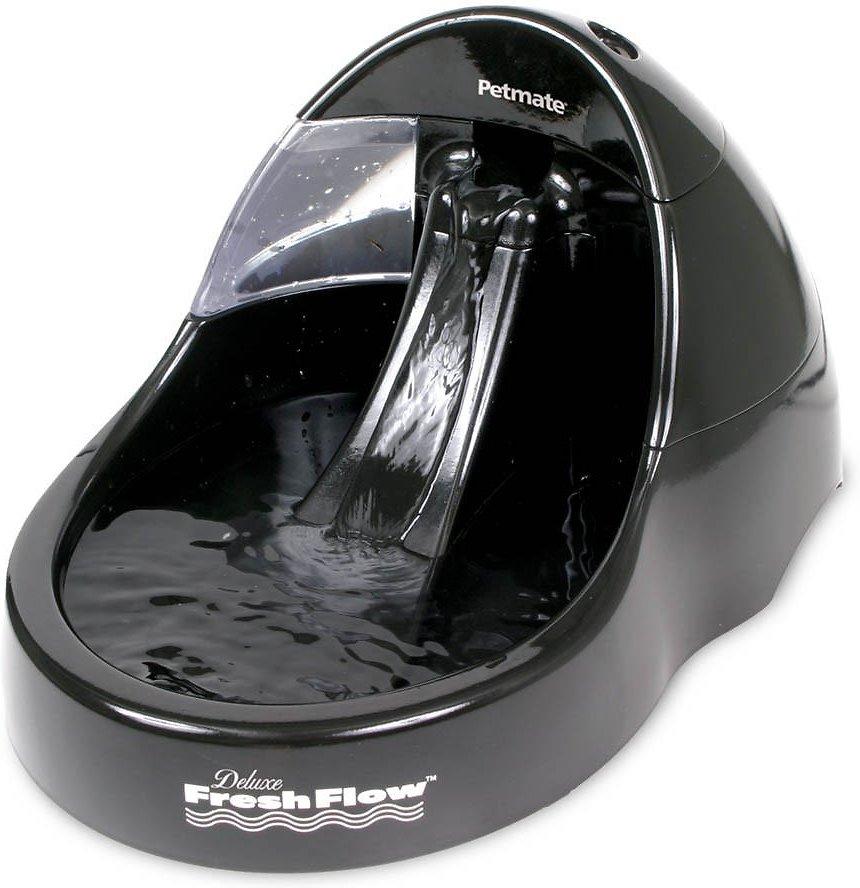 Petmate Deluxe Fresh Flow Pet Fountain, Black, 108-oz