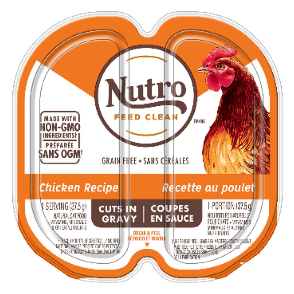 Nutro Chicken Cuts in Gravy Cat Food Trays Image