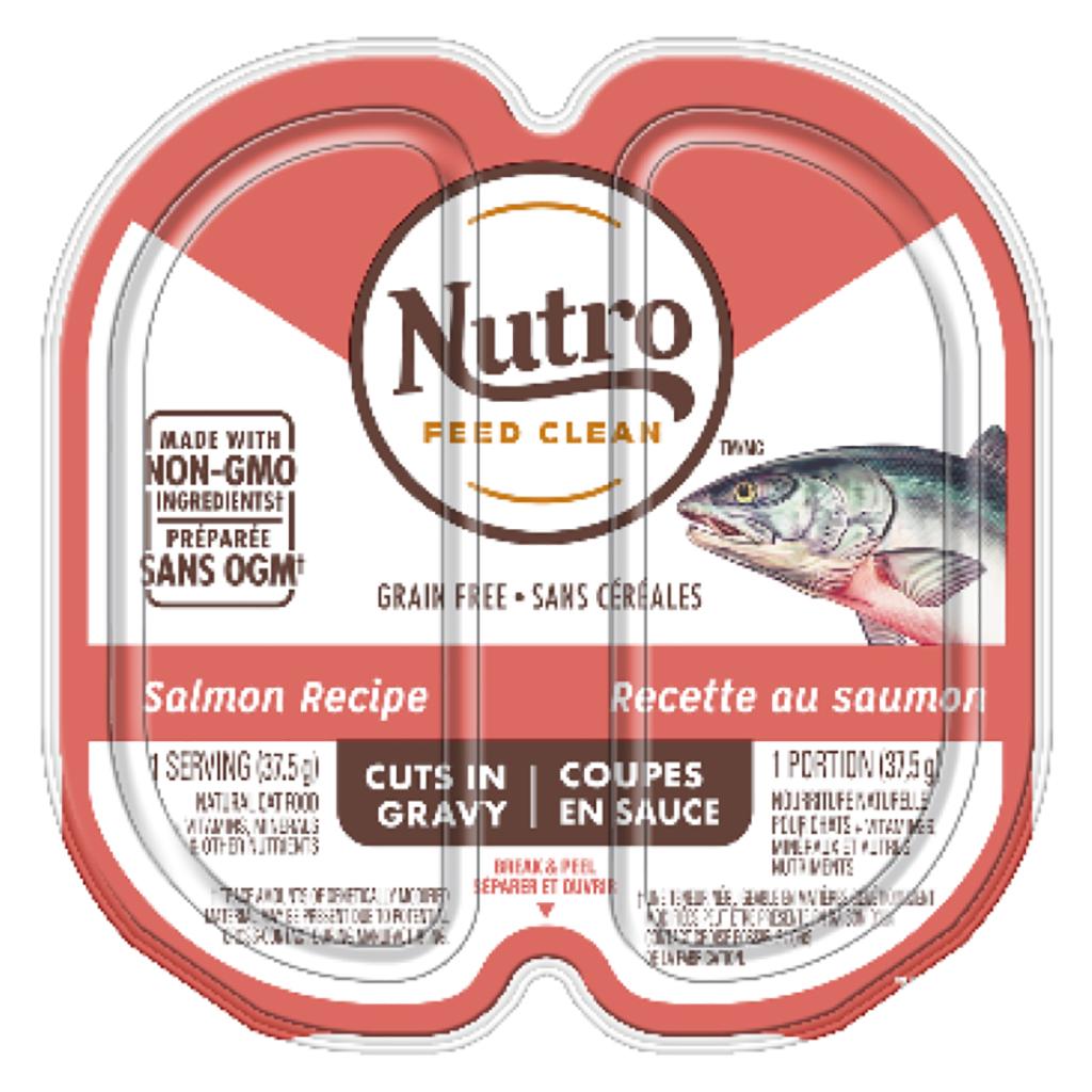 Nutro Salmon Cuts in Gravy Cat Food Trays Image