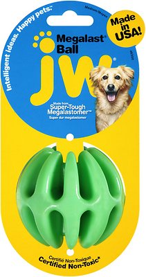 JW Pet Megalast Ball Dog Toy, Color Varies, Medium
