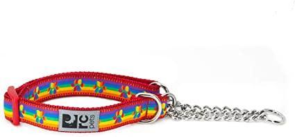 RC Pet Products Training Dog Collar, Rainbow Paws, Medium