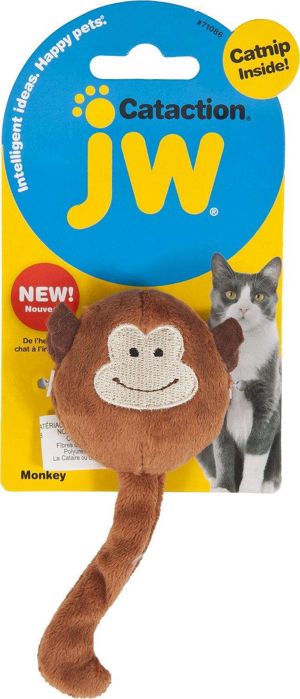 JW Pet Cataction Plush Monkey with Catnip Cat Toy