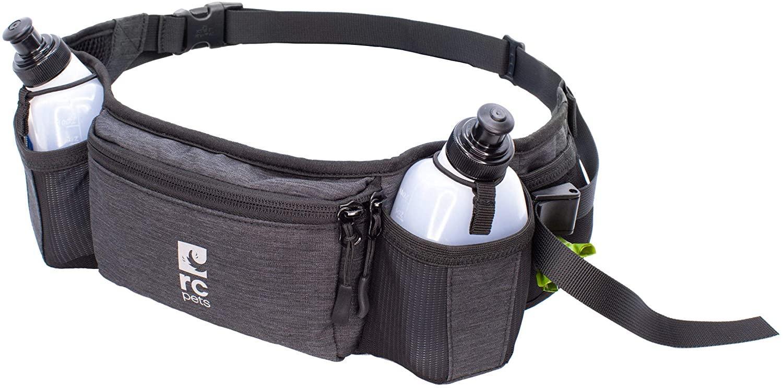 RC Pet Products Horizon Hip Pack Running Belt, Heather Black