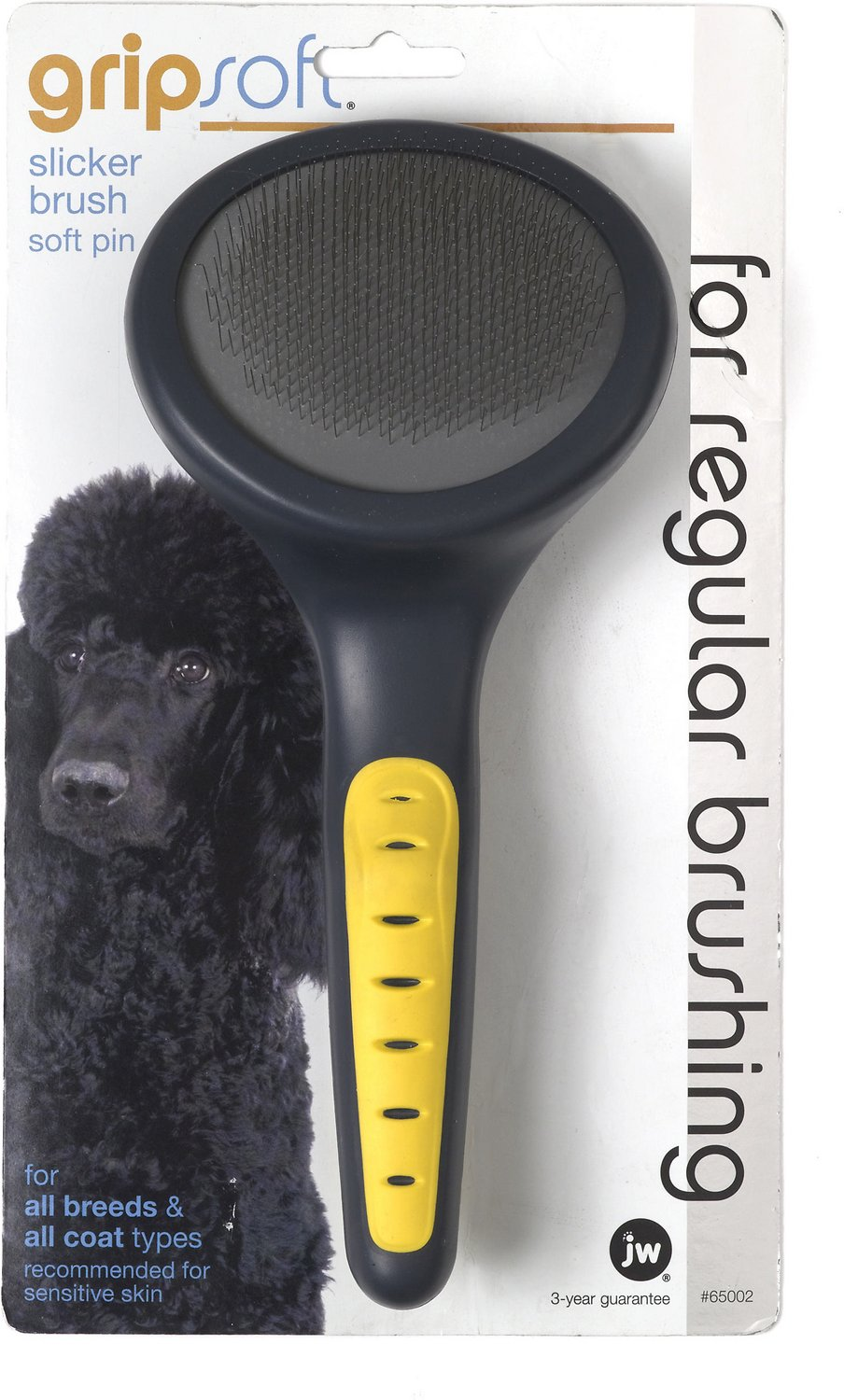 JW Pet Gripsoft Slicker Brush Soft Pin Image