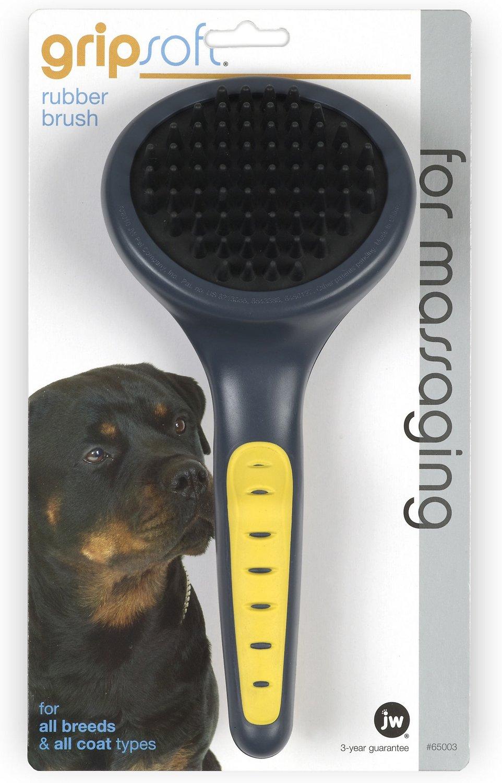JW Pet Gripsoft Rubber Brush