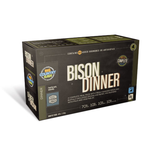Big Country Raw Bison Dinner Frozen Dog Food, 4-lb