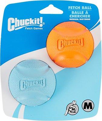 Chuckit! Fetch Ball Dog Toy, Color Varies, Medium, 2-pk