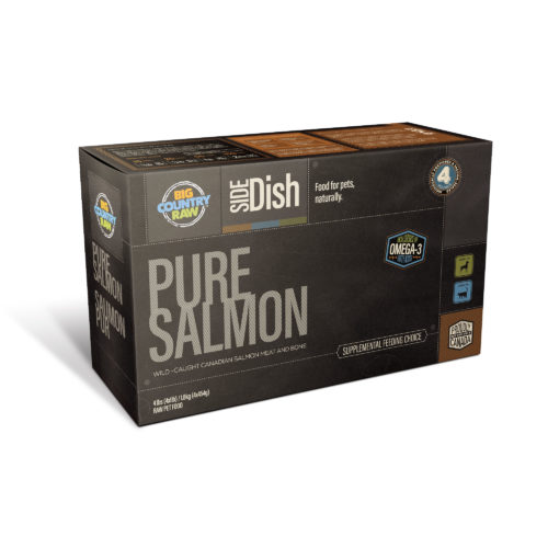 Big Country Raw Pure Salmon Frozen Food, 4-lb