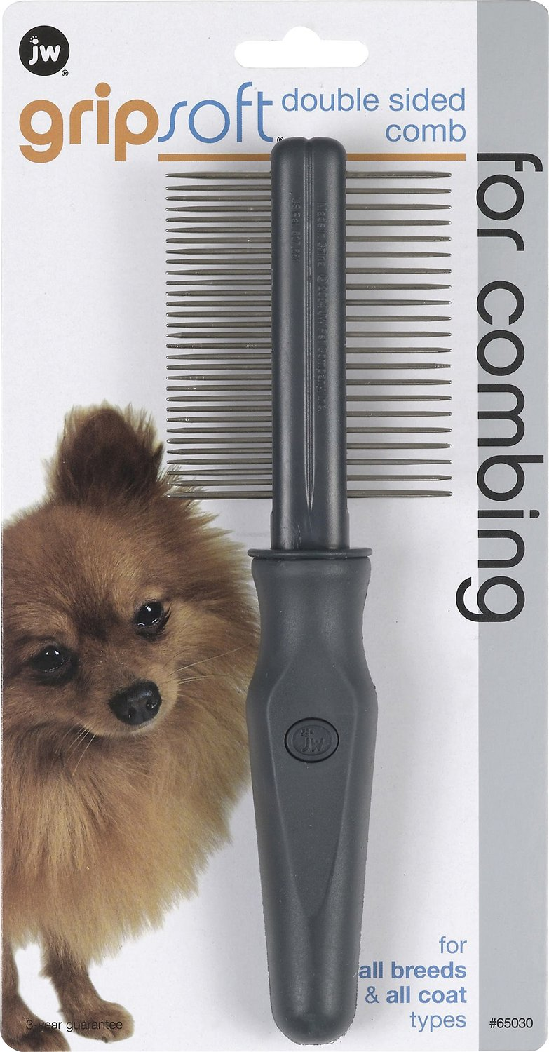 JW Pet Gripsoft Double Sided Comb Image