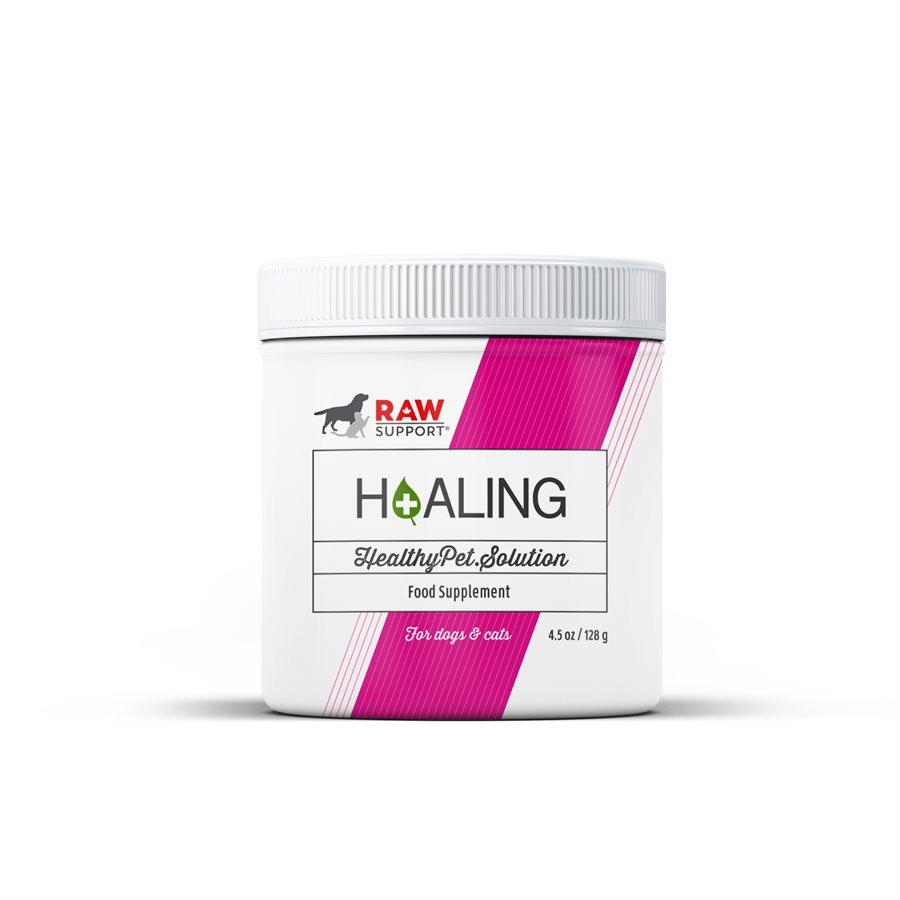Raw Support H+aling Food Supplement for Dogs & Cats, 128-gram