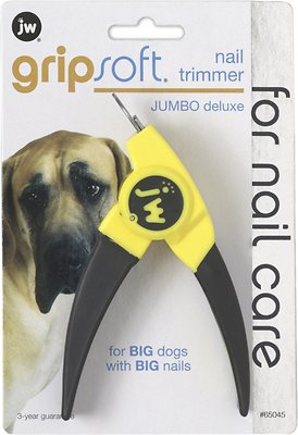 JW Pet Gripsoft Deluxe Dog Nail Trimmer, Jumbo Deluxe