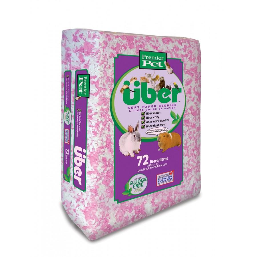 Premier Pet über Soft Paper Small Animal Bedding, White/Pink Image