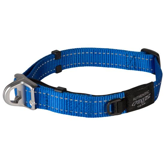 Rogz Safety Dog Collar, Blue, Medium