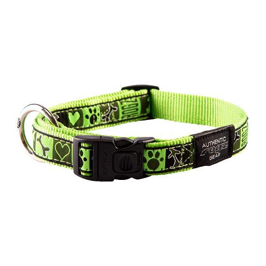 Rogz Fancy Dress Dog Collar, Lime Juice Image