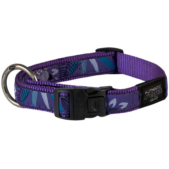 Rogz Fancy Dress Dog Collar, Purple Forest, Large