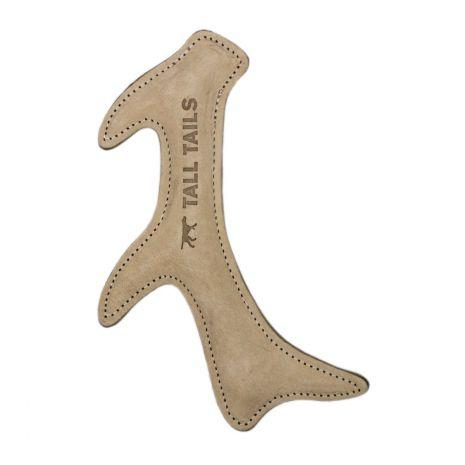 Tall Tails Natural Leather Antler Dog Toy, 11-in