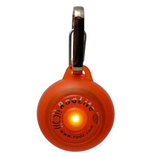 Rogz Roglite Dog Collar, Orange Image