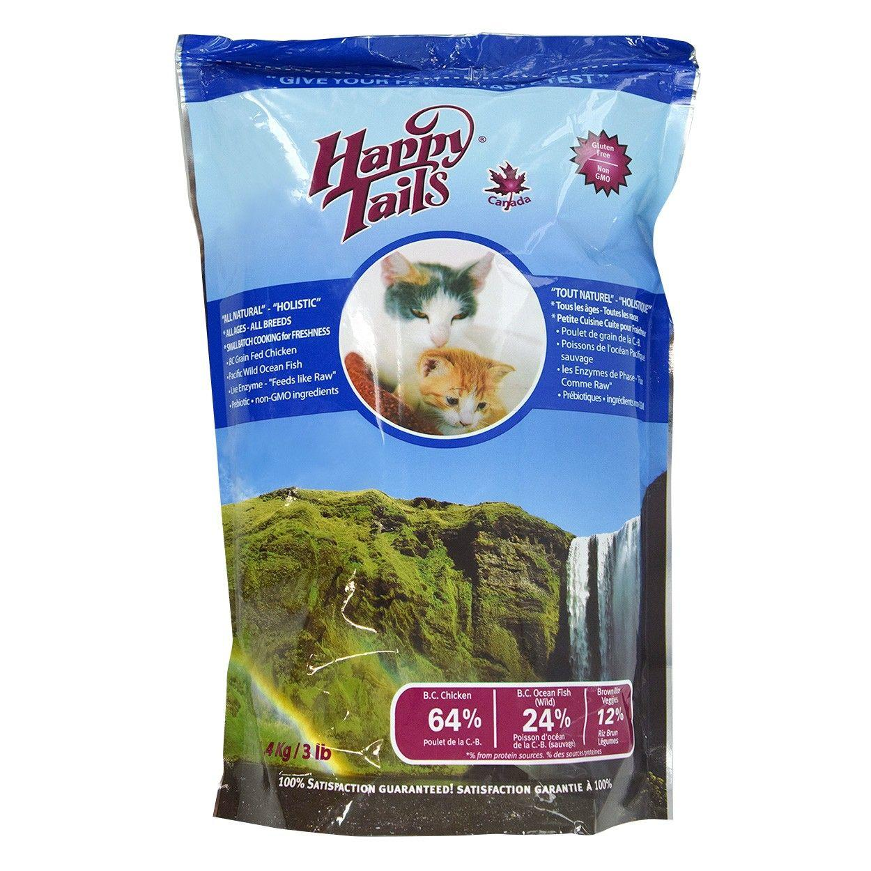 Happy Tails Holistic Dry Cat Food, 3-lb