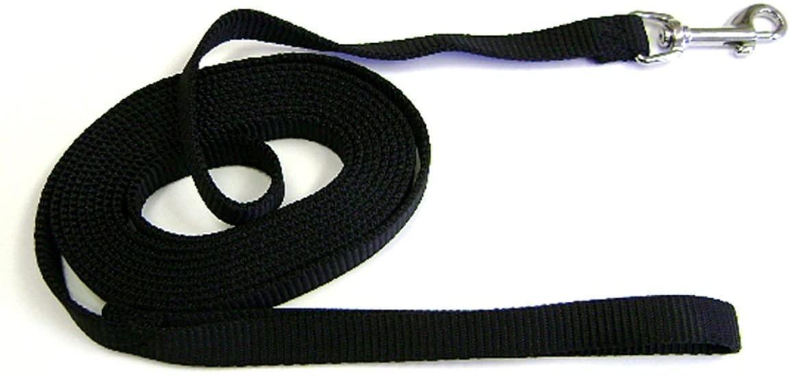 Hamilton Training Dog Lead, Black, 5/8-in x 15-ft