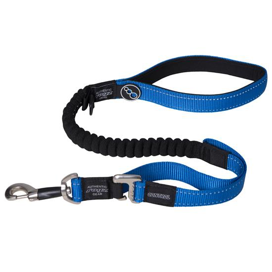 Rogz Control Shock Absorbing Bungee Dog Lead, Blue Image