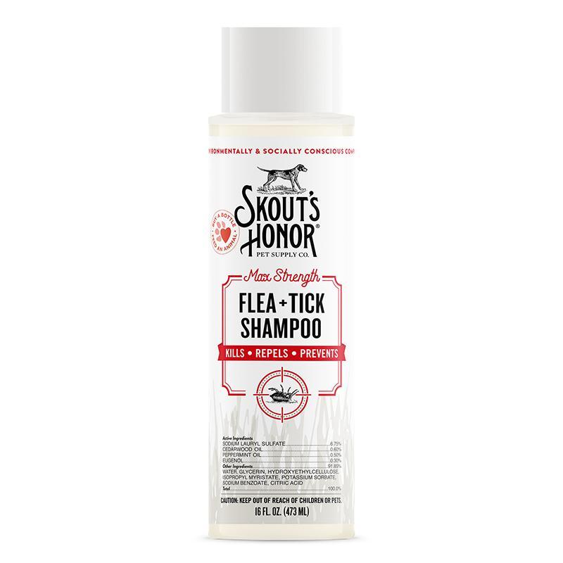 Skout's Honor Flea + Tick Dog Shampoo, 16-oz