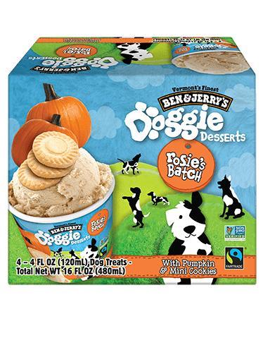 Ben & Jerry's Rosie's Batch Frozen Dog Treats, 4-pk