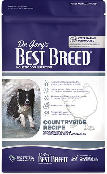 Dr. Gary's Best Breed Dog Countryside Recipe Dry Dog Food, 4-lb