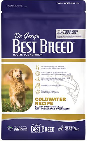 Dr. Gary's Best Breed Dog Coldwater Recipe Dry Dog Food, 4-lb