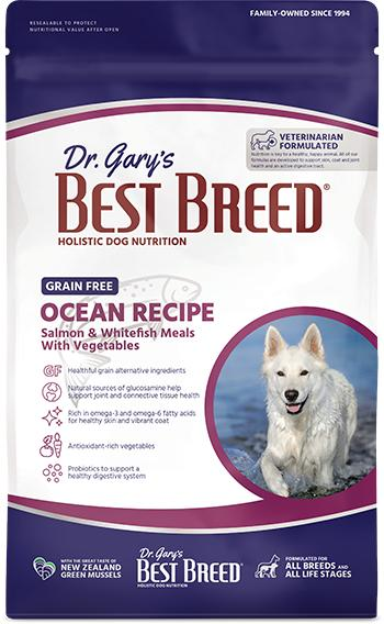 Dr. Gary's Best Breed Dog Ocean Recipe Grain-Free Dry Dog Food, 4-lb