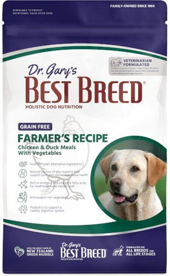 Dr. Gary's Best Breed Dog Farmer's Recipe Grain-Free Dry Dog Food, 4-lb