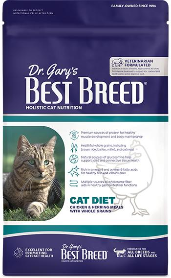 Dr. Gary's Best Breed Holistic All Life Stages Dry Cat Food, 12-lb