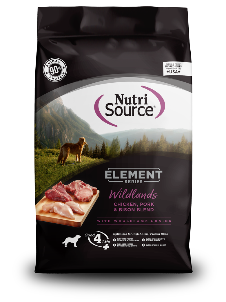 NutriSource Element Wildlands Dry Dog Food, 12-lb