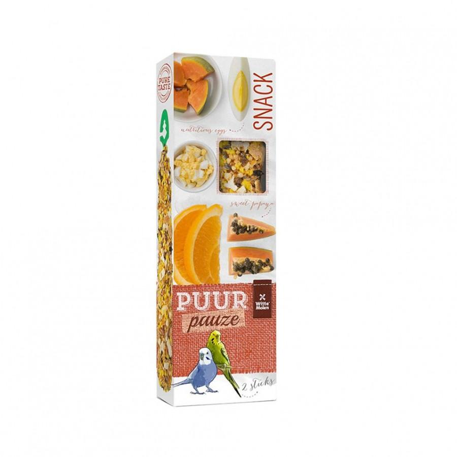Witte Molen PUUR Pauze Seed Sticks Exotic Fruit & Egg Budgie Bird Treats Image