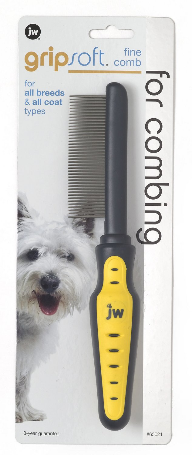 JW Pet Gripsoft Fine Tooth Comb