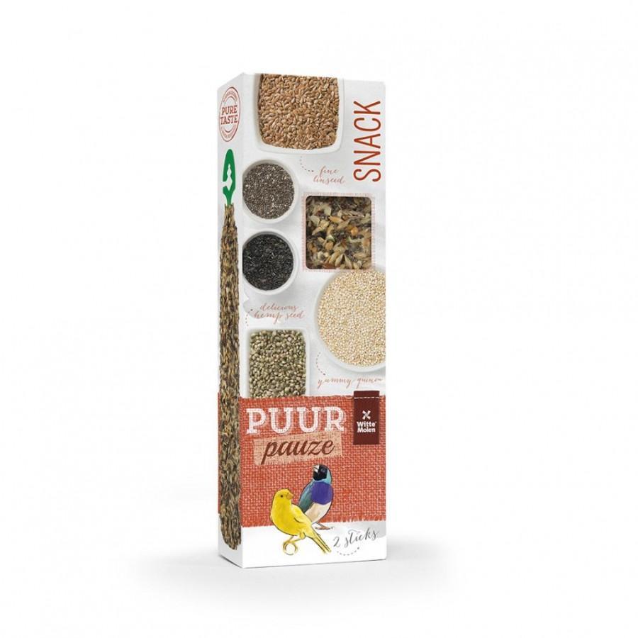 Witte Molen PUUR Pauze Seed Sticks Super Seed Ornamental Bird Treats, 60-gram