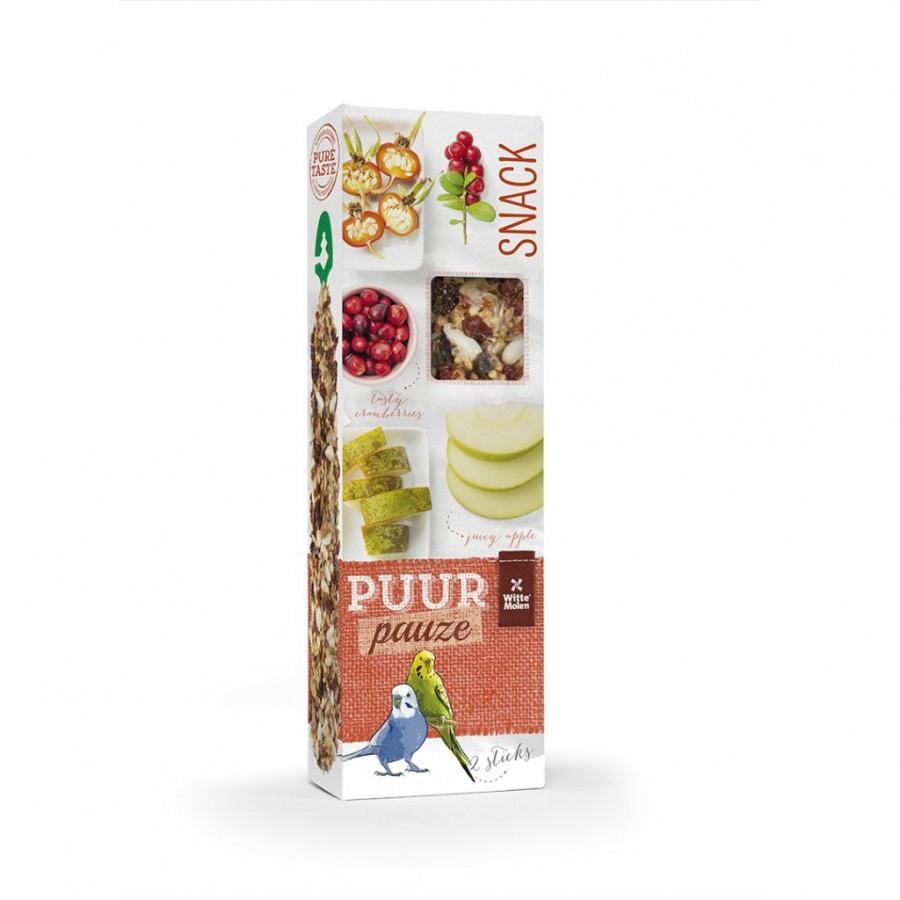 Witte Molen PUUR Pauze Seed Sticks Apple & Pear Budgie Bird Treats Image