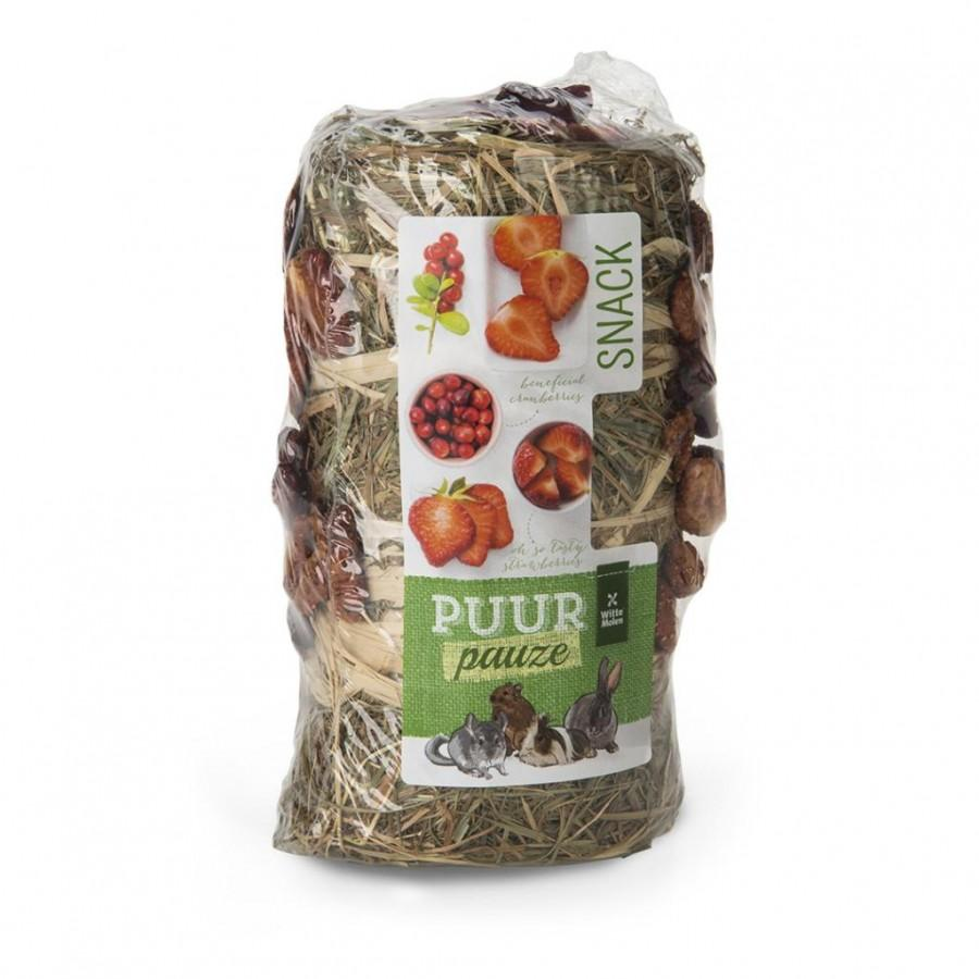 Witte Molen PUUR Pauze Hay Roll Fruit Small Animal Treats, 200-gram