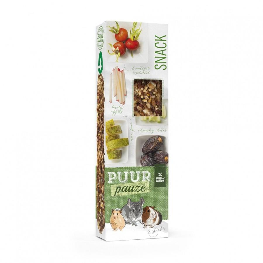 Witte Molen PUUR Pauze Sticks European Fruits Small Animal Treats, 180-gram