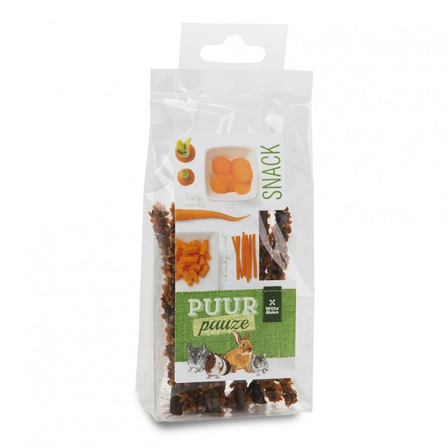 Witte Molen PUUR Pauze Sticks Carrot Small Animal Treats, 50-gram