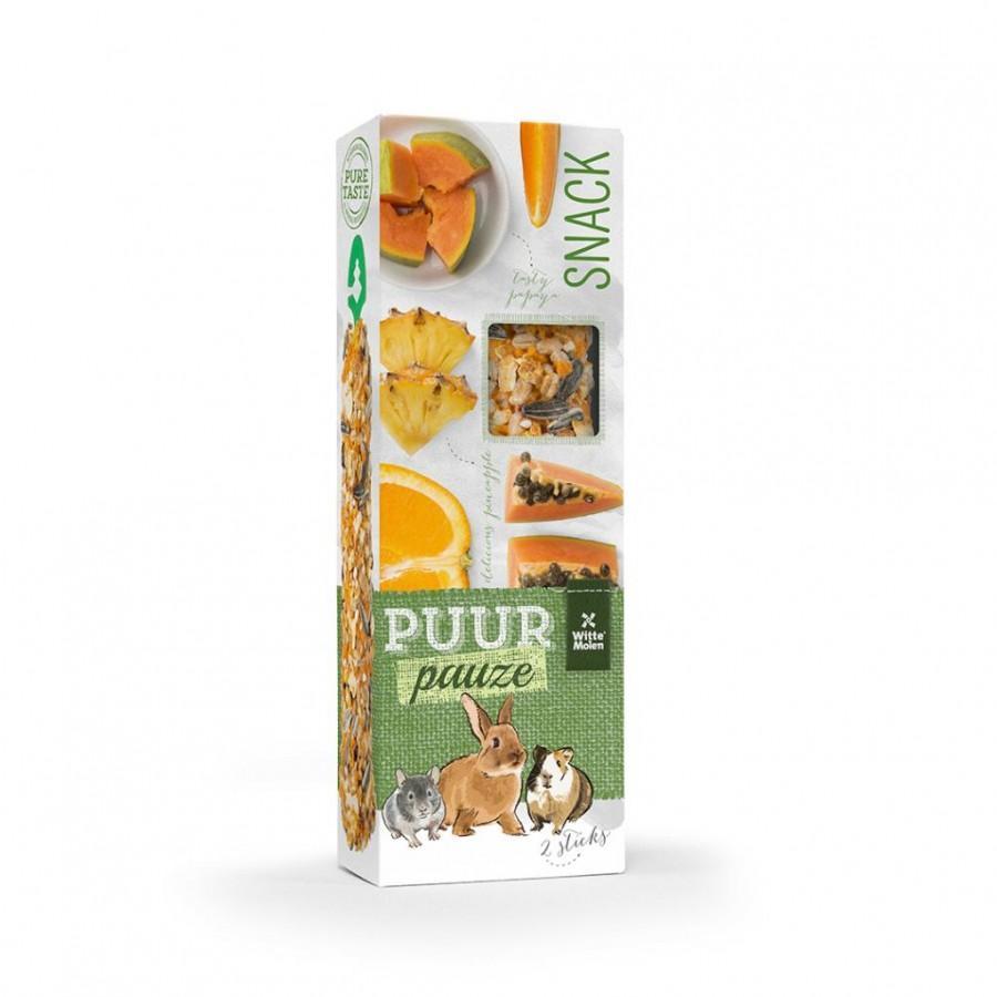 Witte Molen PUUR Pauze Sticks Exotic Fruit Small Animal Treats, 110-gram