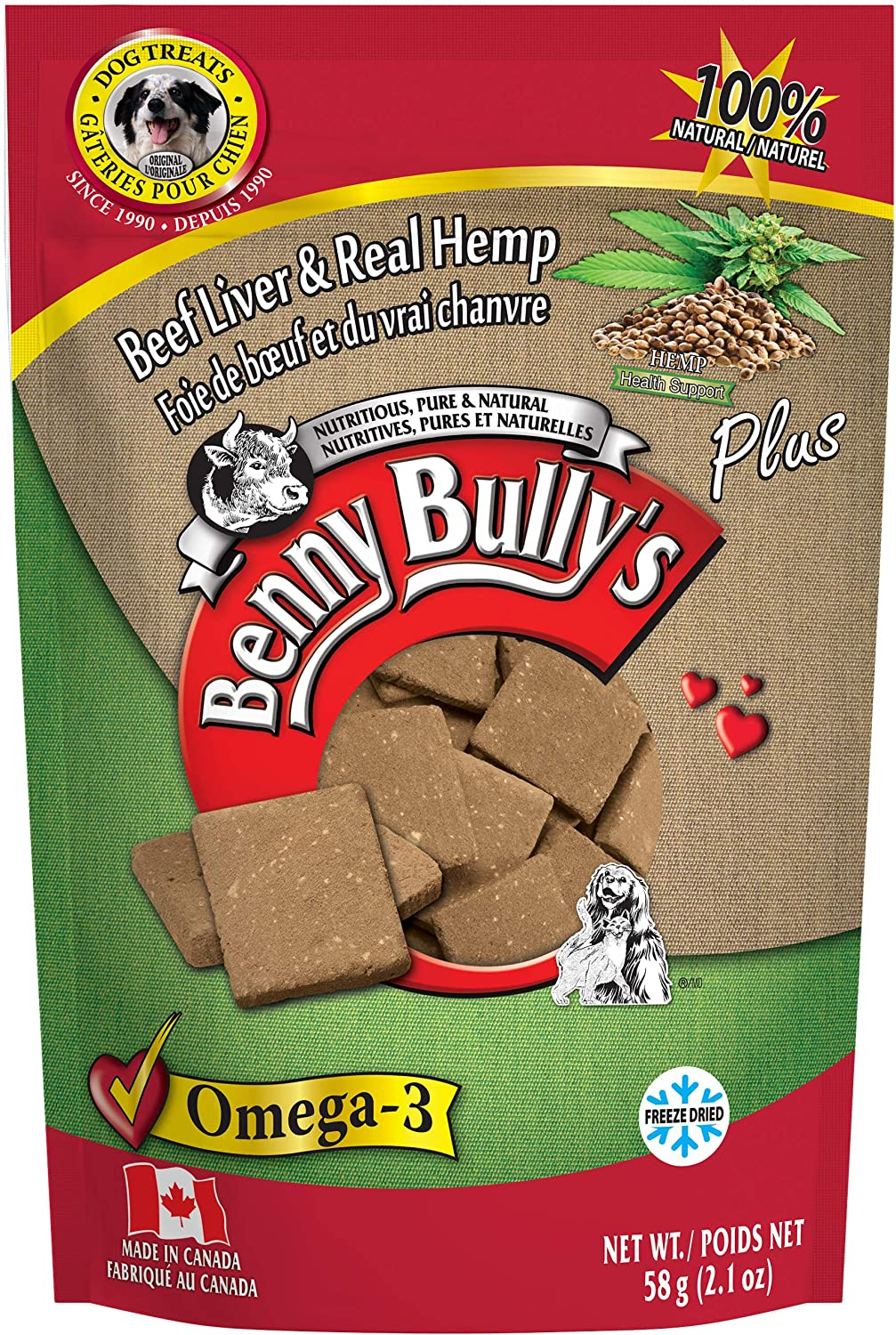 Benny Bully's Plus H-Beef Liver Dog, 58-g